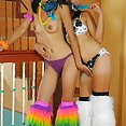 Real Filipina go go girls Alice and Rose strip down - image 2
