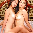 Thai bar girl duo probe each others perfect bodies - image 2