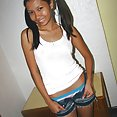 Perky breasted and pigtailed young filipina teen - image 2