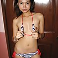 Nubile LBFM wriggles out of her skimpy bikini - image 2