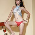 Slim and sexy lbfm teen strips her go go outfit - image 2