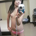 Nervous filipina girl friend does some nude mirror pics - image 2