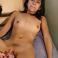 Petite filipina takes on white guy with big cock - image 2