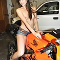 Cute amateur gf naked in boyfriends garage - image 2