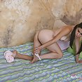 Mixed race nude tomboy teen Mae - image 2