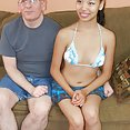Old dude loves to show off young Asian GF - image 2