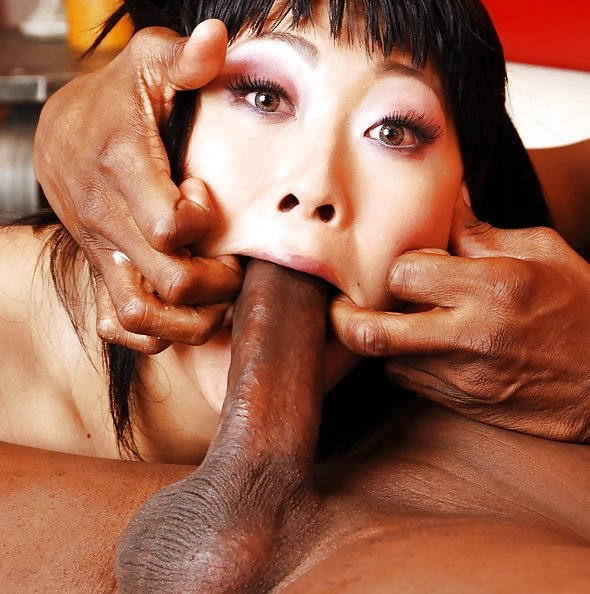 Chinese girl completely impaled on huge cock